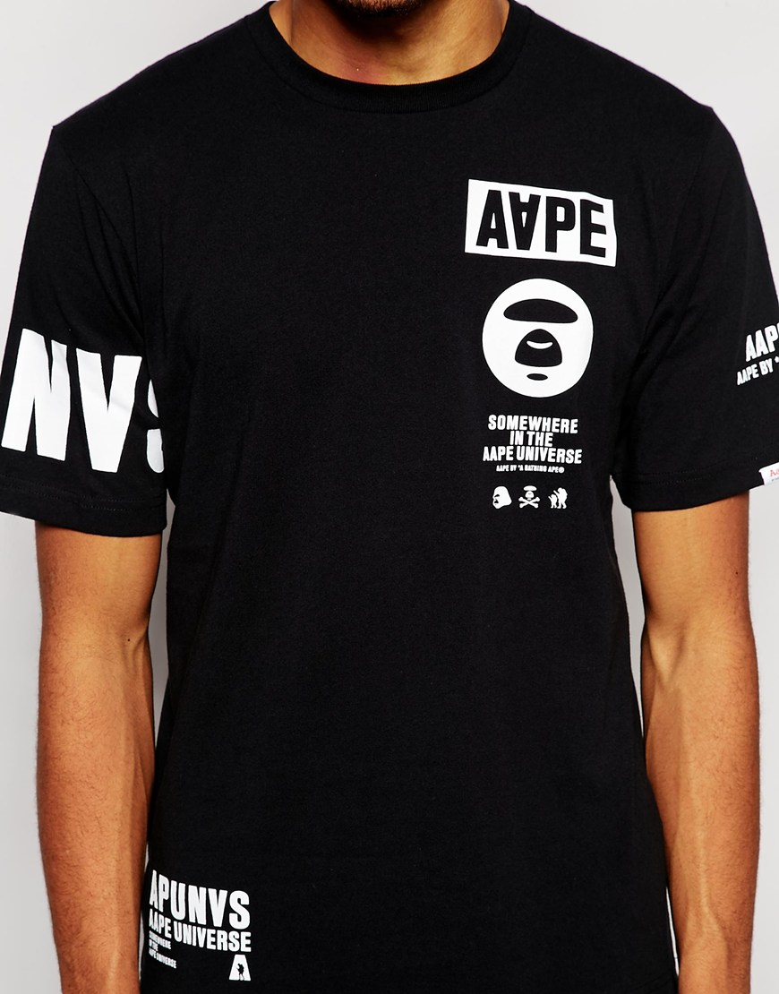 Black t shirt with print - Gallery