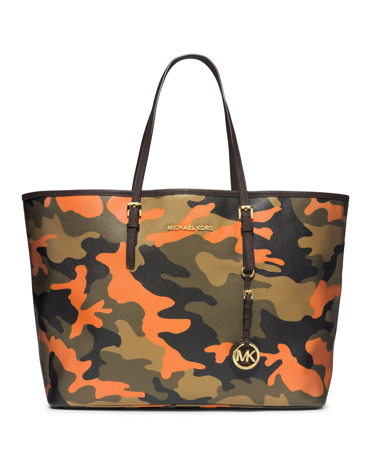bc3857eca83b MICHAEL Michael Kors Medium Jet Set Camo Travel Tote in Green - Lyst