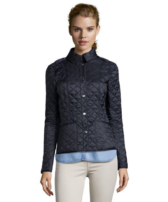 Burberry Brit Ink Quilted Nylon 'Kencott' Snap Front Jacket in ... : burberry brit kencott quilted jacket - Adamdwight.com