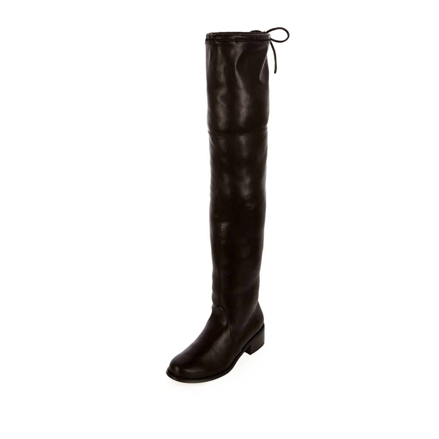 3032b273ed7e River island Black Over The Knee Boots in Black