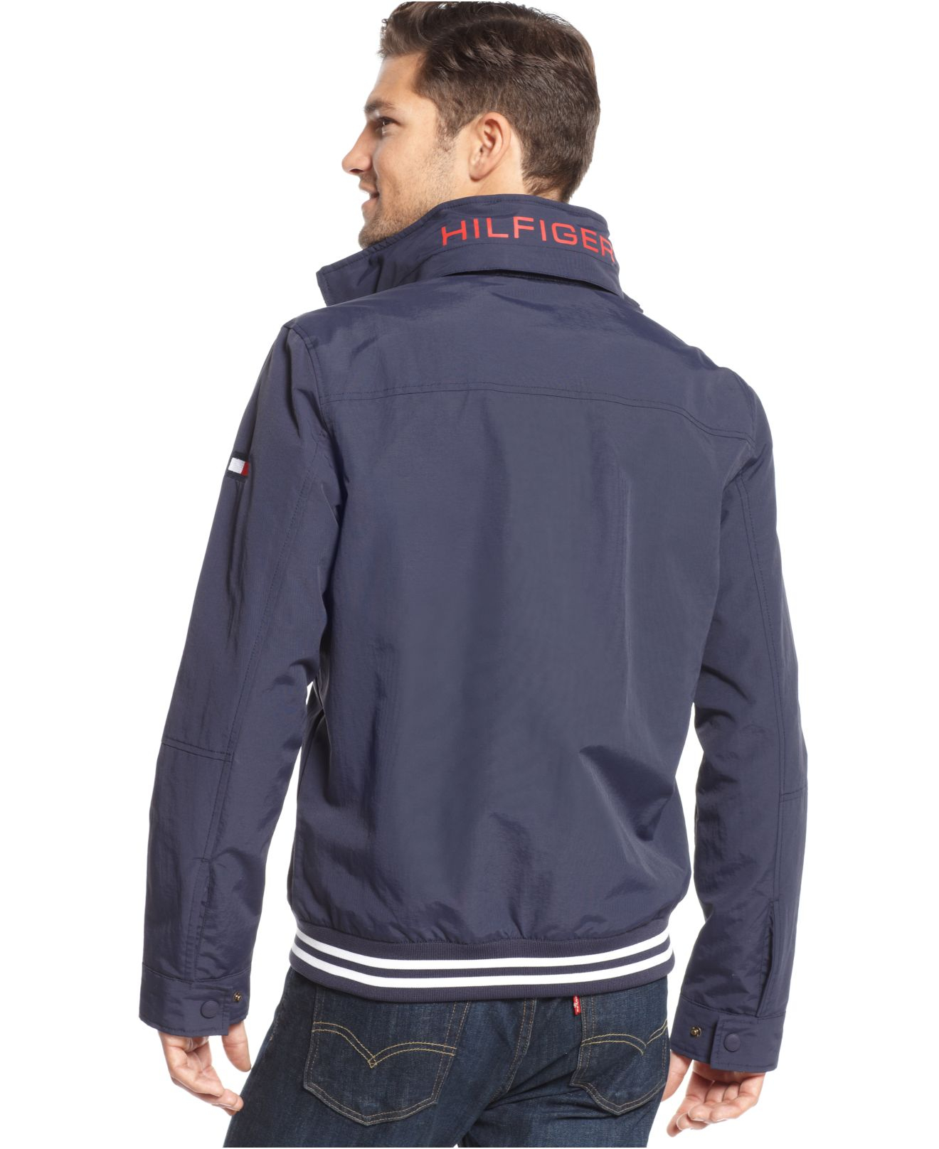 tommy hilfiger core regatta jacket in blue for men lyst. Black Bedroom Furniture Sets. Home Design Ideas