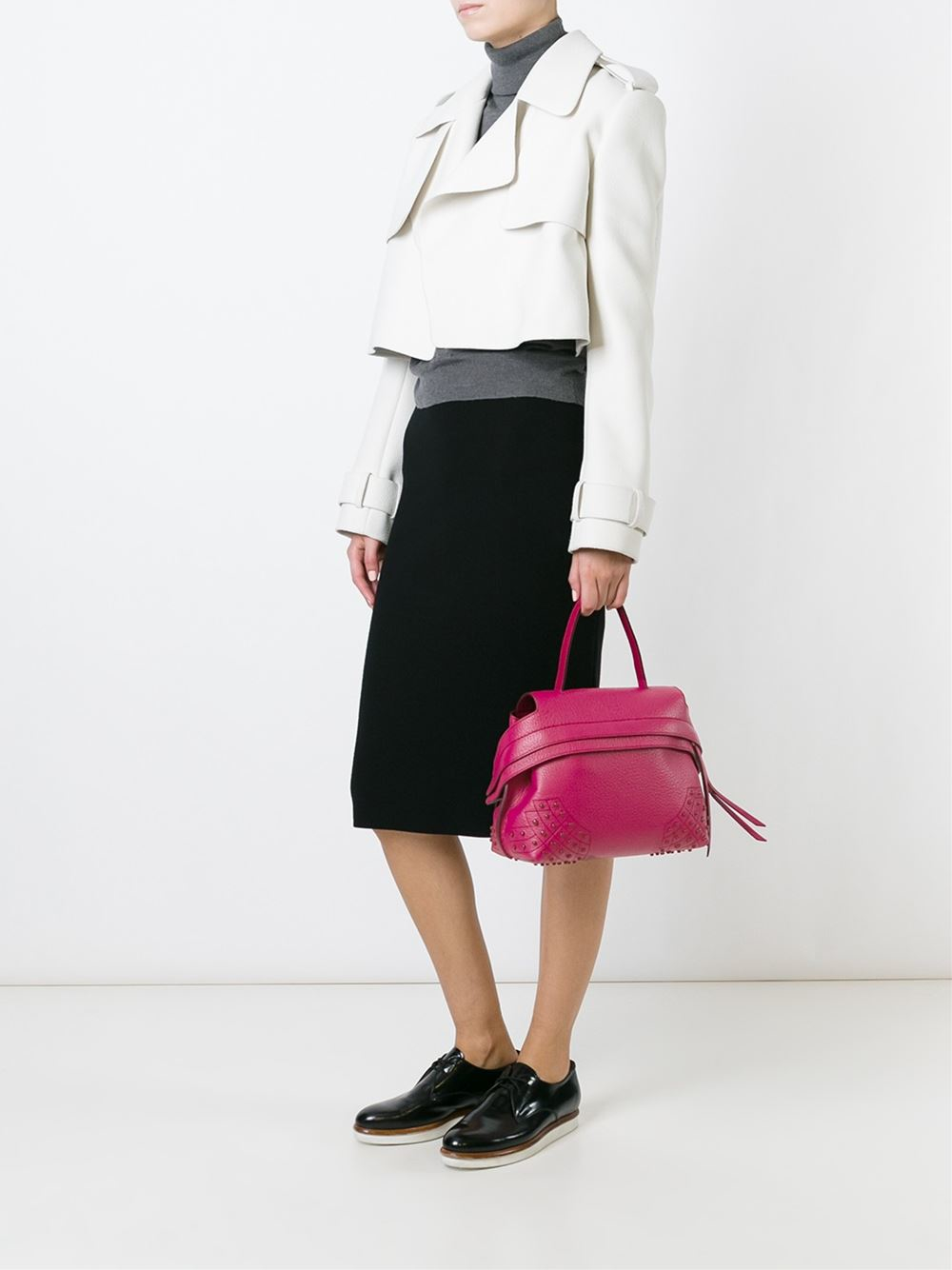 1d0da68a0ee Lyst - Tod s  wave  Tote in Pink
