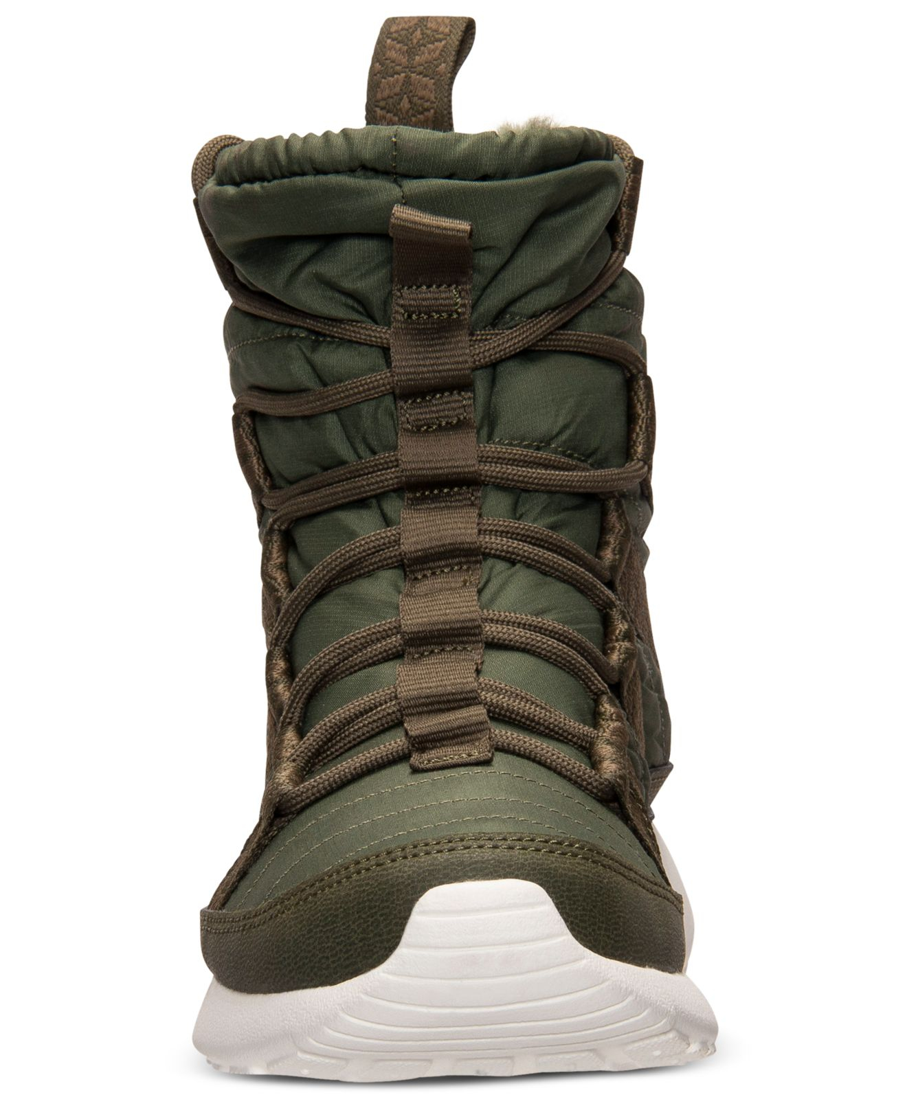 1442a2760fd2 Lyst - Nike Women S Roshe Run Hi Sneakerboots From Finish Line in Green