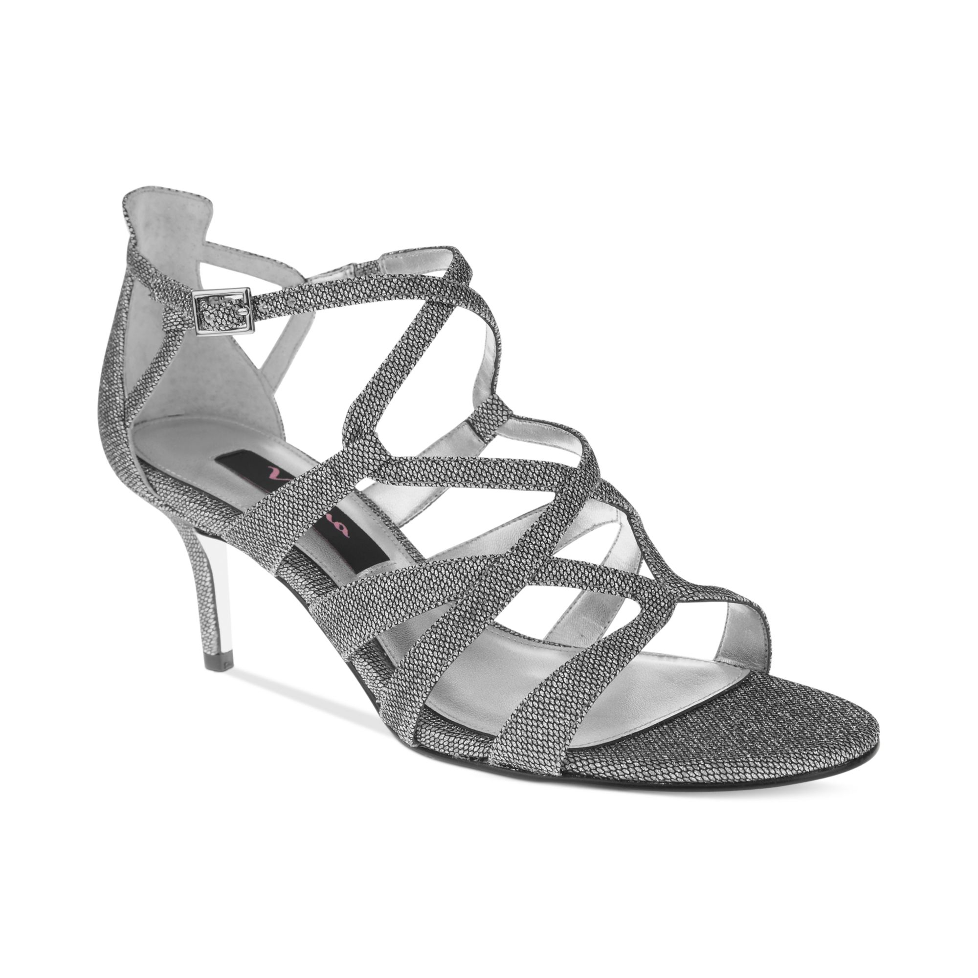 Lyst Nina Claresa Up The Front Evening Sandals In Gray