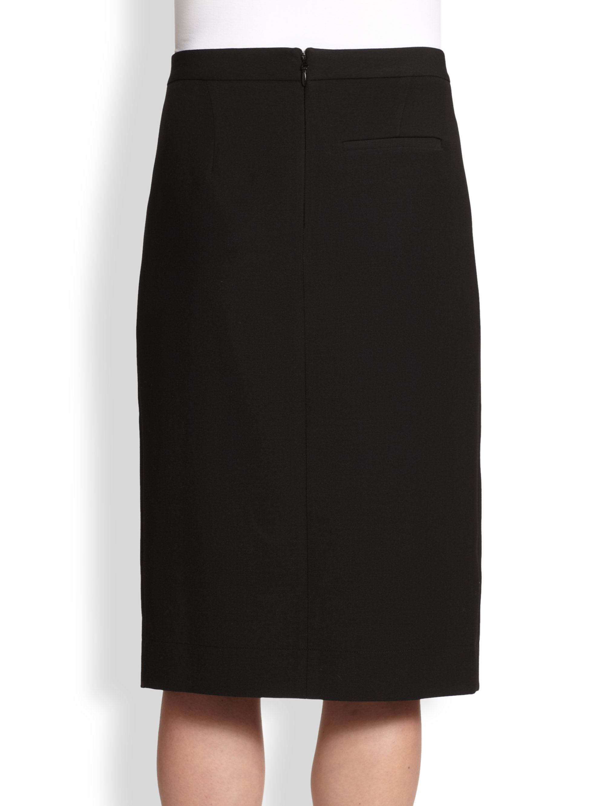 bcbgmaxazria grayce asymmetrical split pencil skirt in