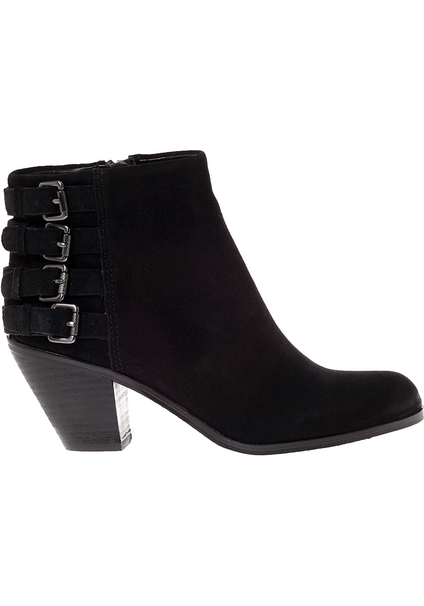 21b72c368 Lyst - Sam Edelman Lucca Ankle Boot Black Suede in Black