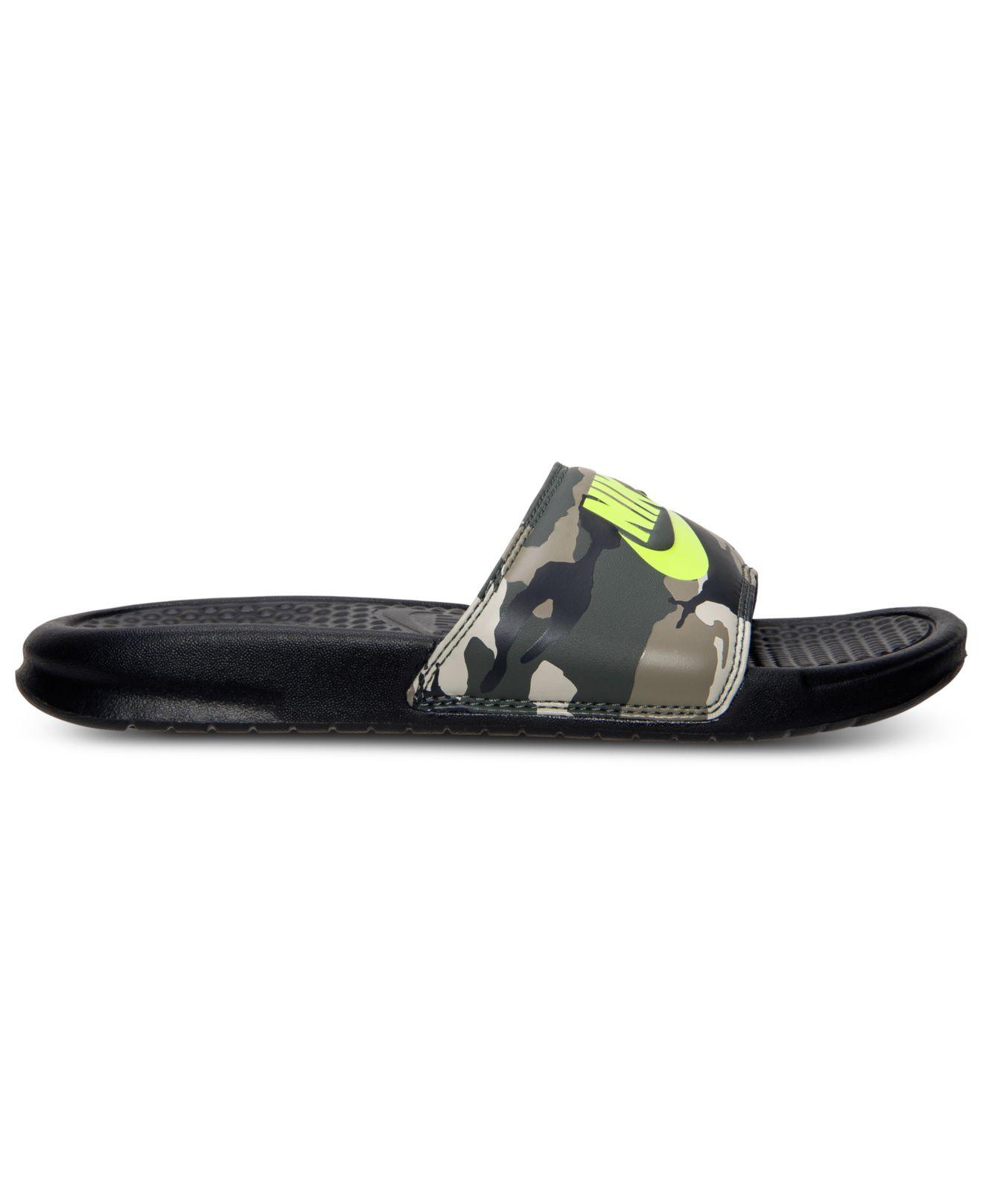 5a8ad502e65f Lyst - Nike Men S Benassi Jdi Print Slide Sandals From Finish Line ...
