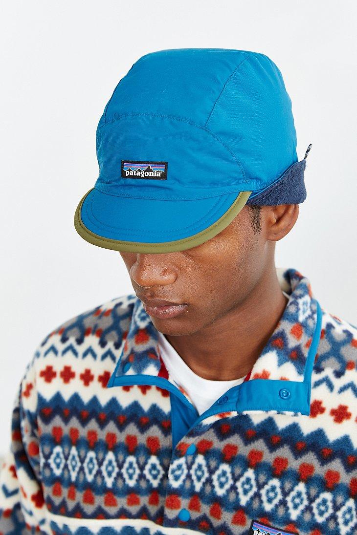 7c7ffa7a6c2 Lyst - Patagonia Shelled Synchilla Duckbill Hat in Blue for Men