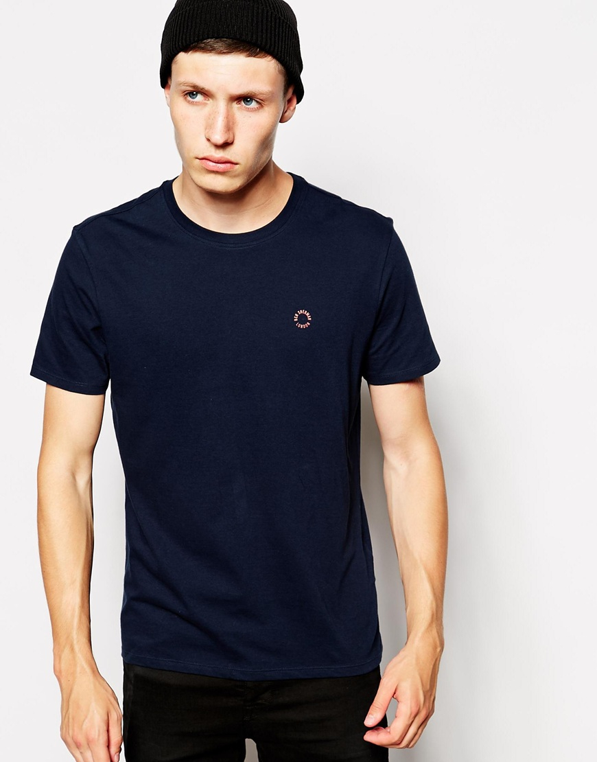 Lyst Ben Sherman T Shirt With Small Logo In Blue For Men