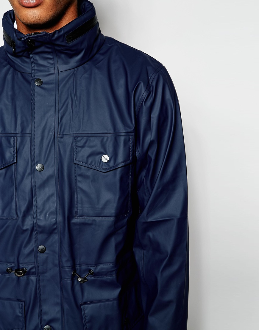Lyst - Rains Waterproof Jacket With 4 Pockets in Blue for Men