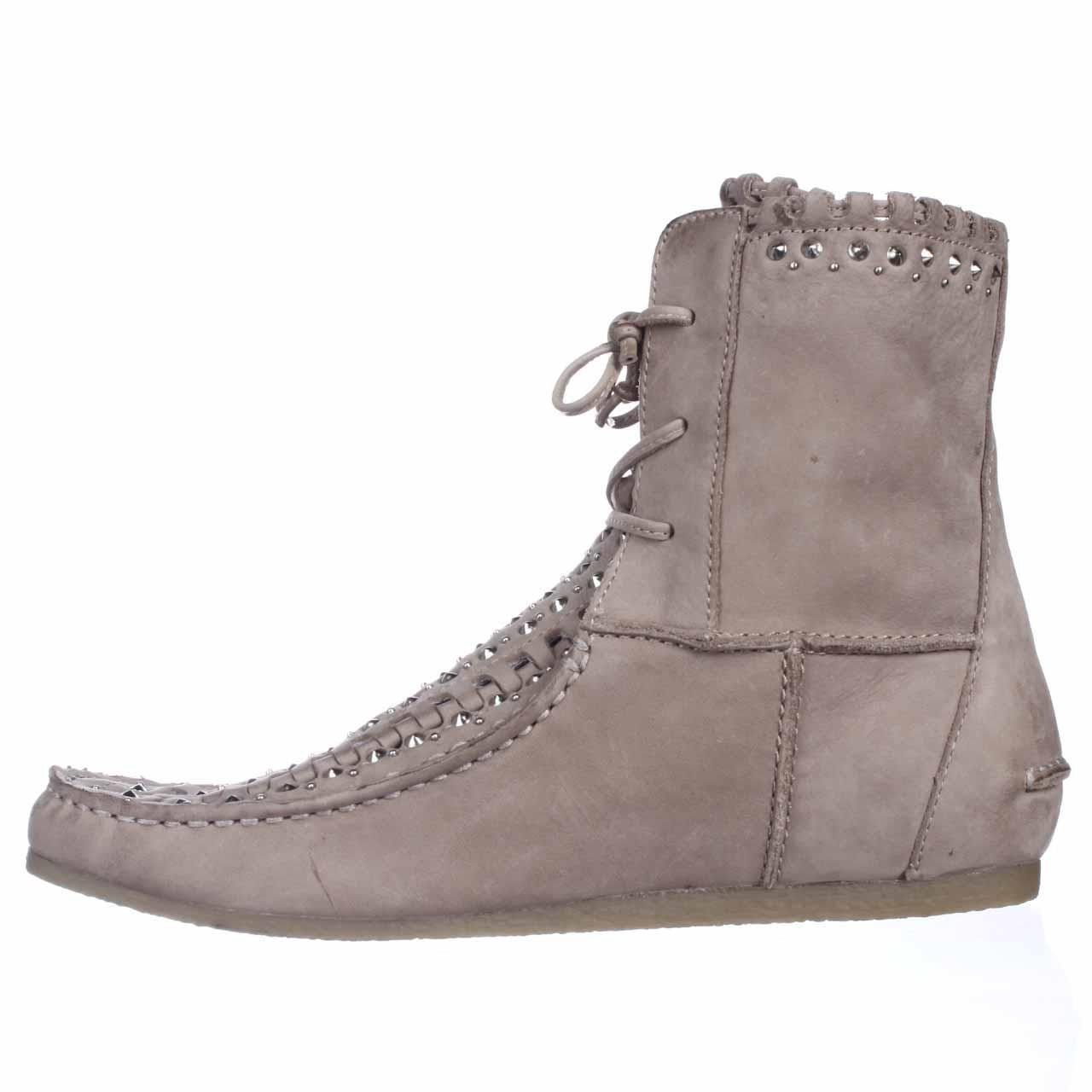 cf5246334 Sam Edelman Katelyn Studded Moccasin Boots in Natural - Lyst
