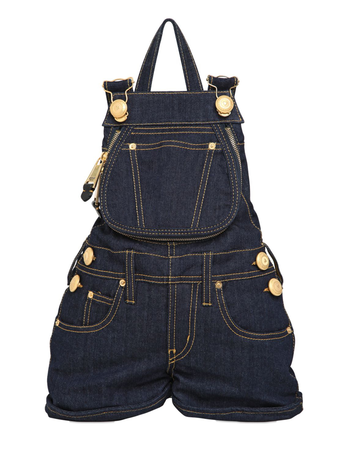 Moschino Overalls Shaped Cotton Denim Backpack in Blue   Lyst