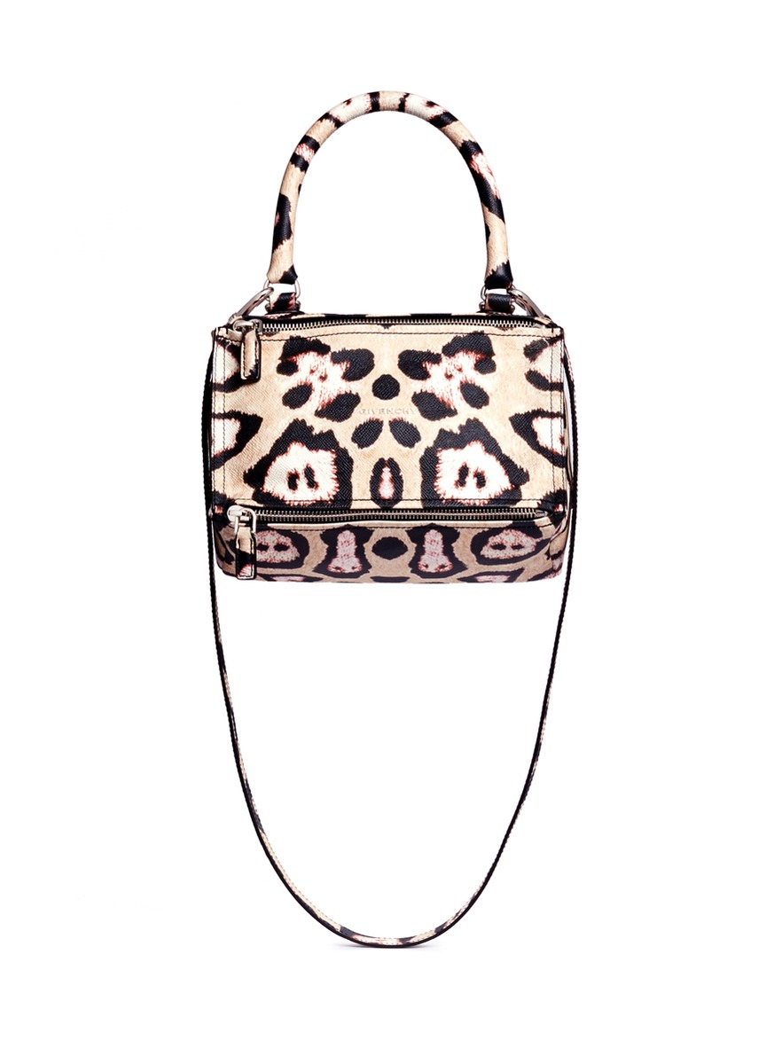 893f05a305 Lyst - Givenchy  pandora  Small Jaguar Print Leather Bag in Black