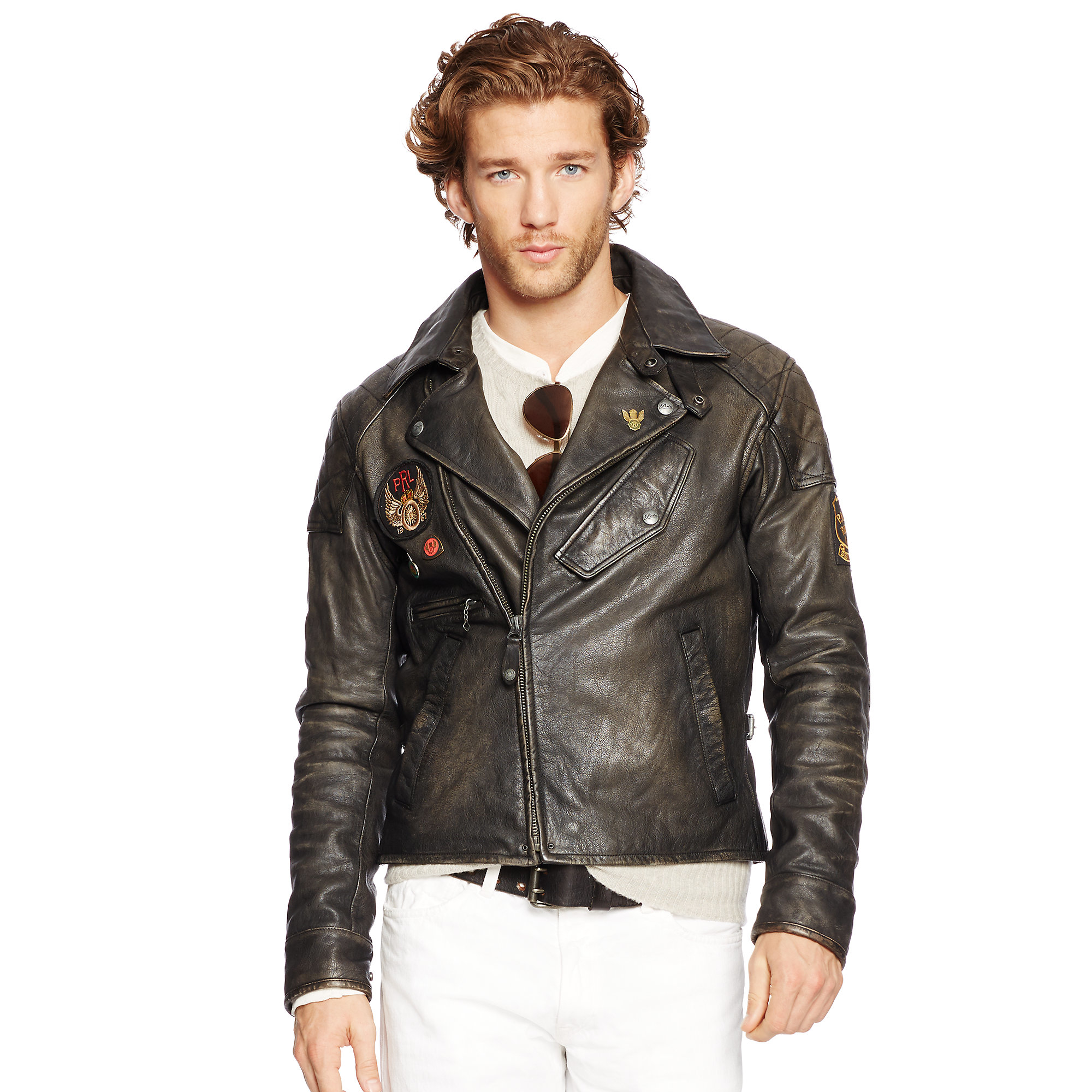 Leather polo jackets