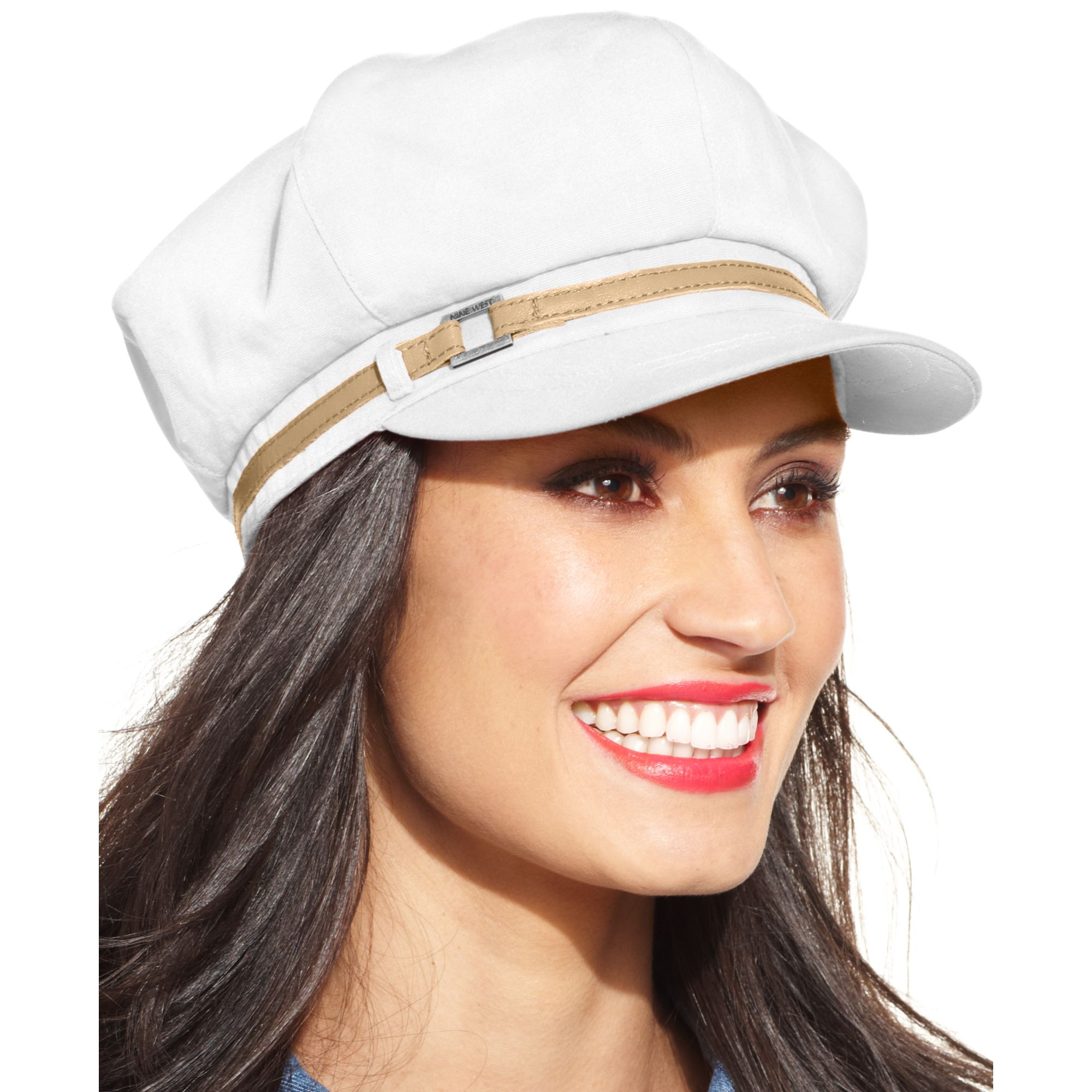 58cb07aa772e4 Nine West Canvas Newsboy Hat in Red - Lyst