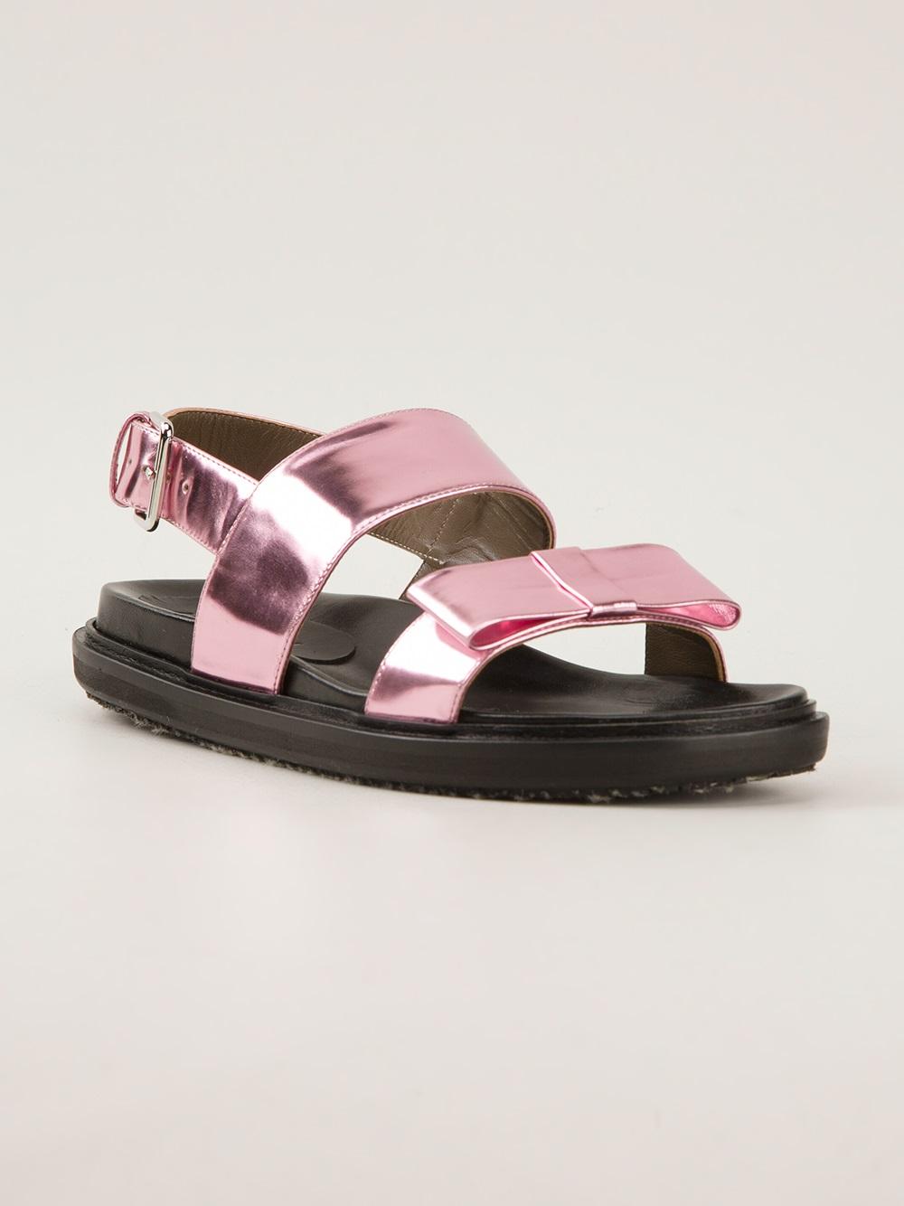 Lyst Marni Bow Detail Sandal In Pink