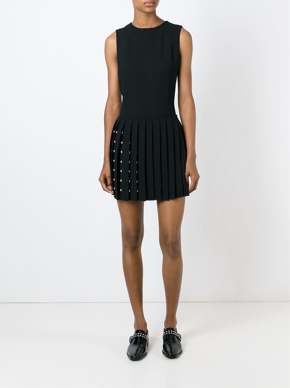 Black Studded Mini Dress