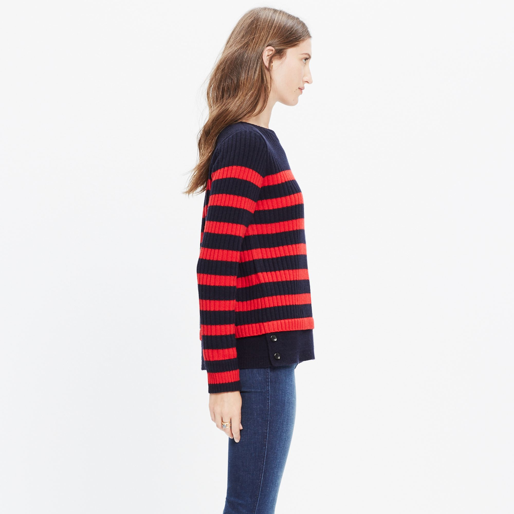 Madewell Striped Anchorlight Sweater in Blue | Lyst