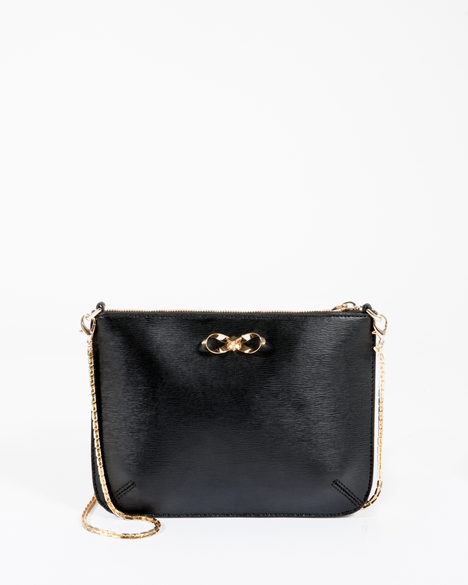 d12a65ea9c4f2 Ted Baker Crosshatch Leather Clutch Bag in Black - Lyst