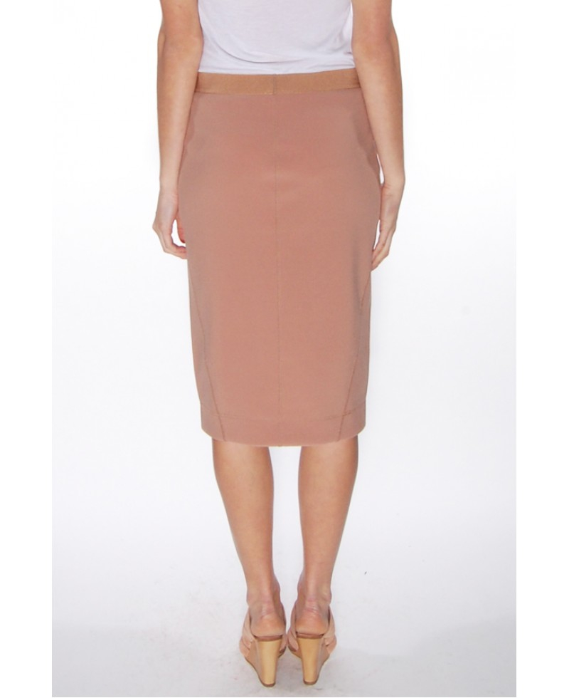By Malene Birger Cafe Latte Polson Skirt In Brown (cafe