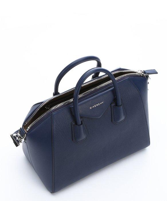 579a1e10c820 Lyst - Givenchy Deep Blue Goatskin Medium  antigona  Convertible ...
