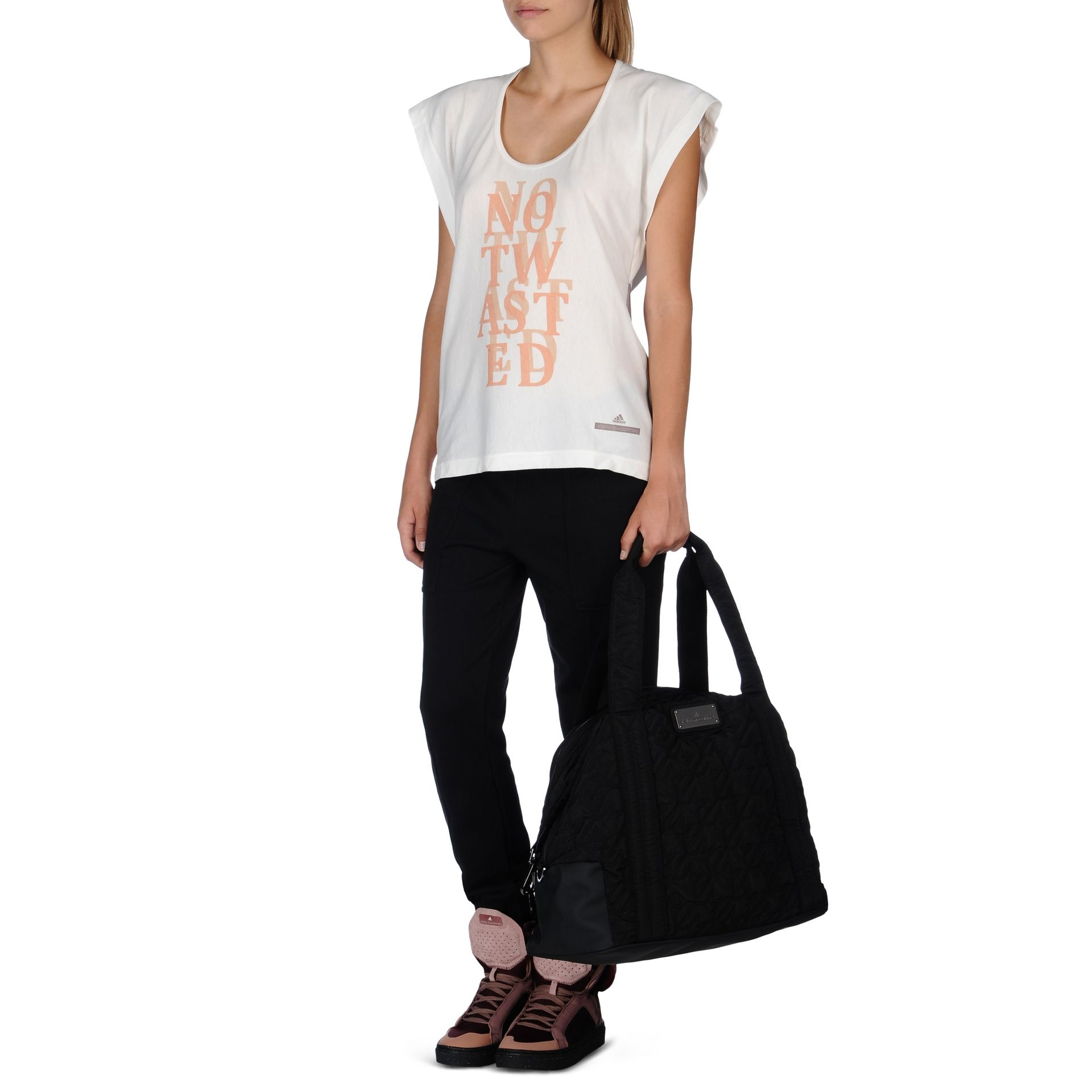 530ab65554 Lyst - adidas By Stella McCartney Low Waste Graphic T-shirt in White