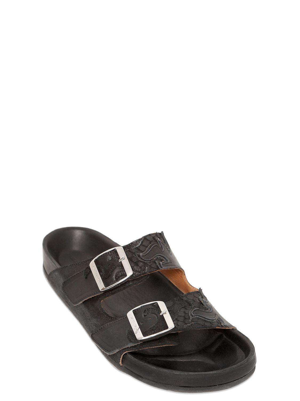Lyst Isabel Marant Etoile Gail Embossed Leather Sandals