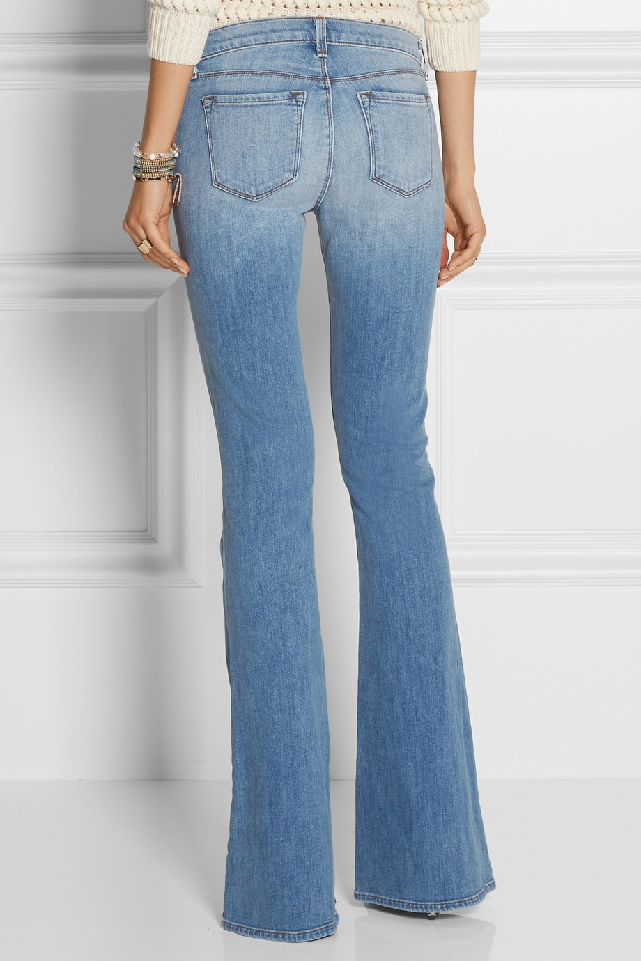J brand Martini Mid-Rise Flared Jeans in Blue | Lyst