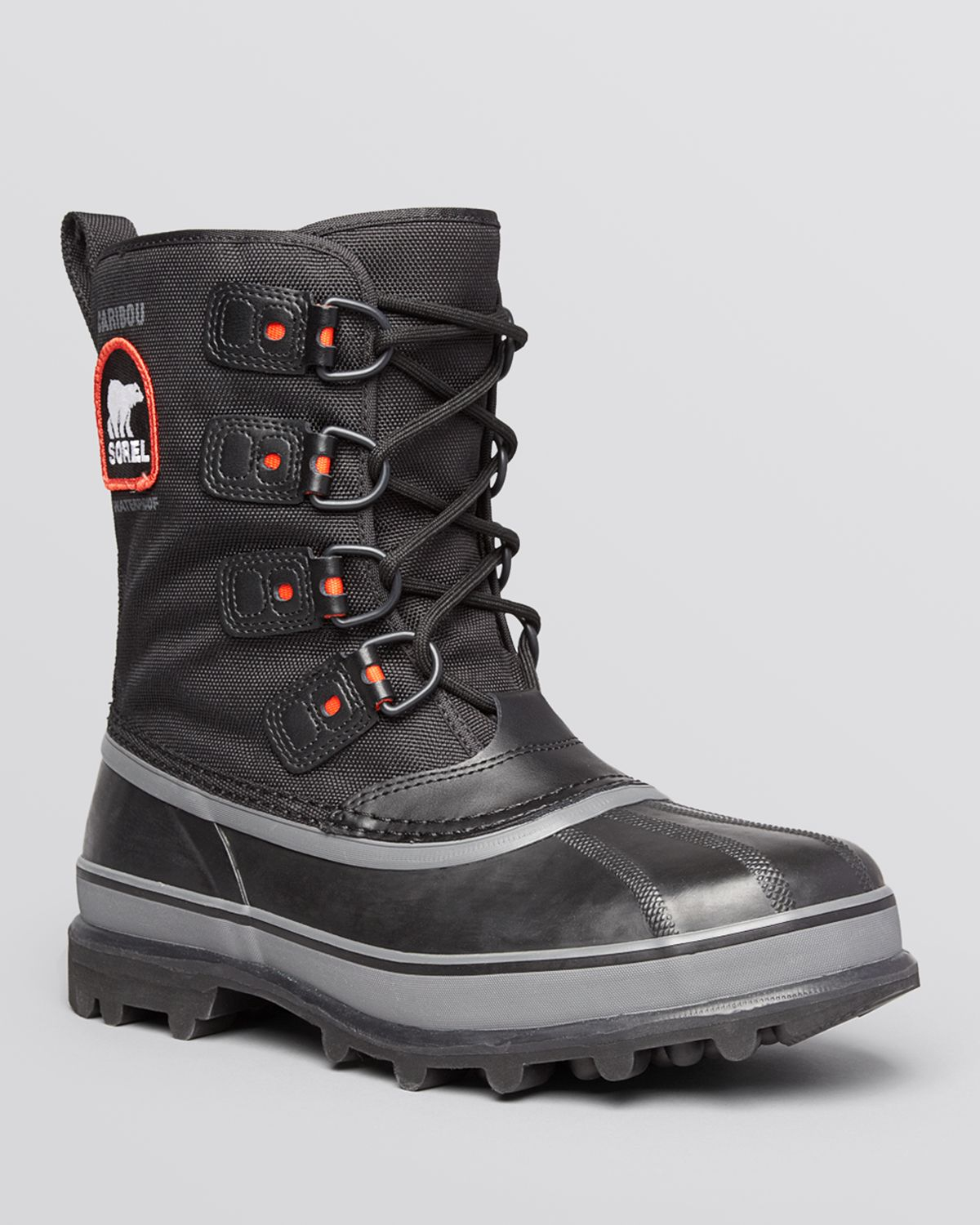 sorel caribou xt waterproof boots in black for lyst