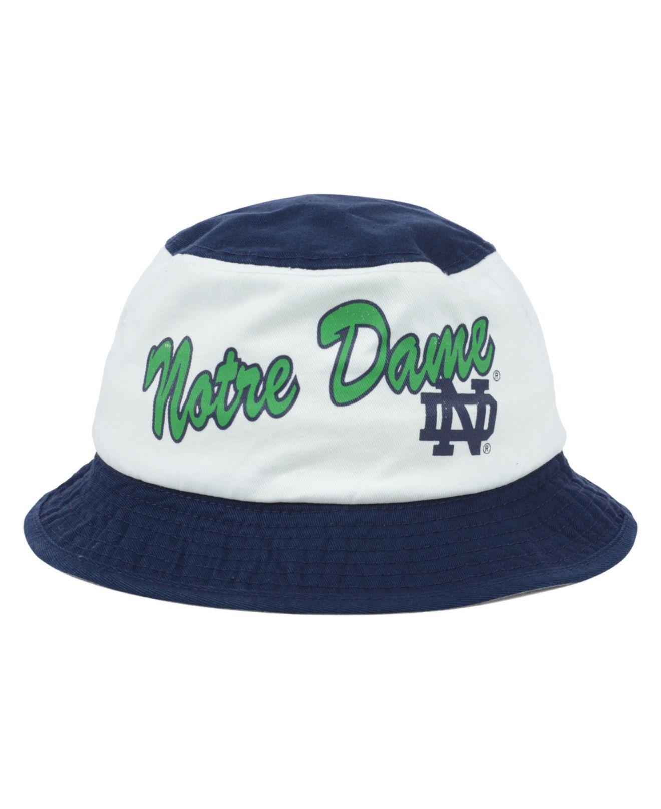 new arrival 5f36c cfbf6 adidas Notre Dame Fighting Irish Script Bucket Hat in Blue for Men ...