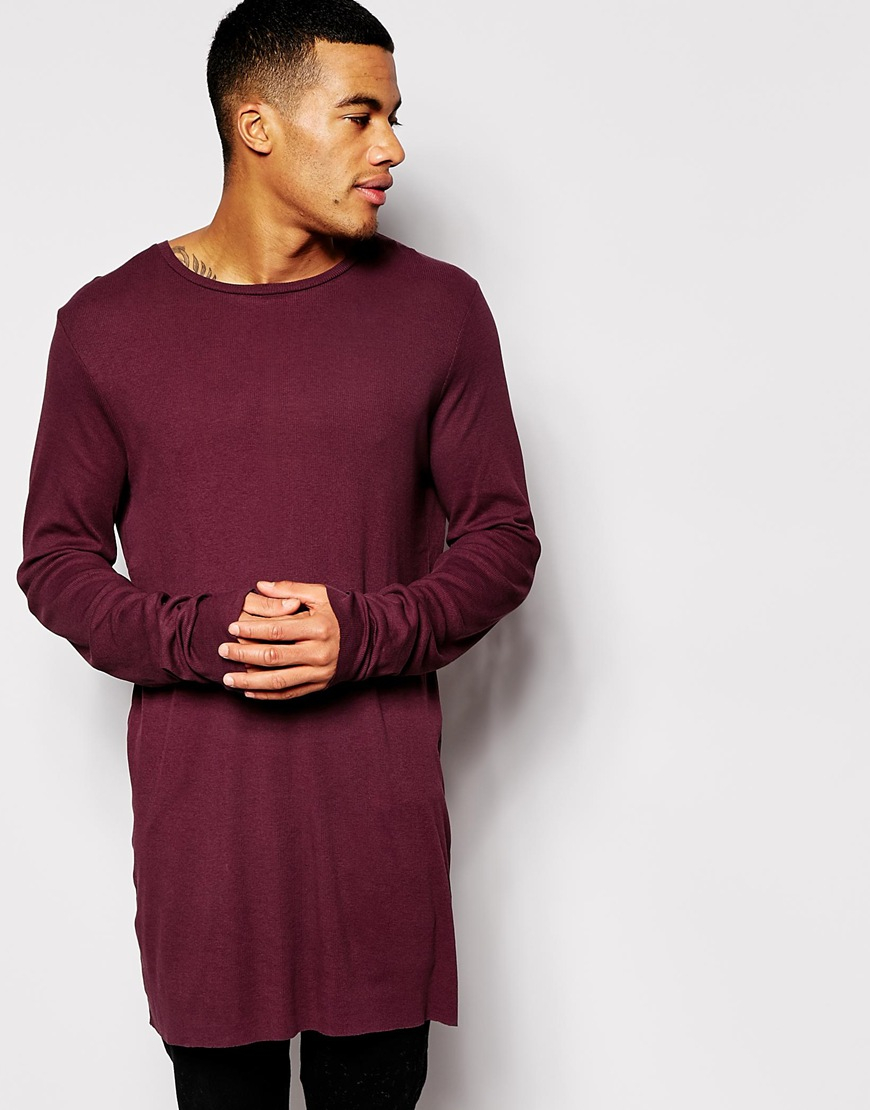 Lyst Asos Super Longline Long Sleeve T Shirt In