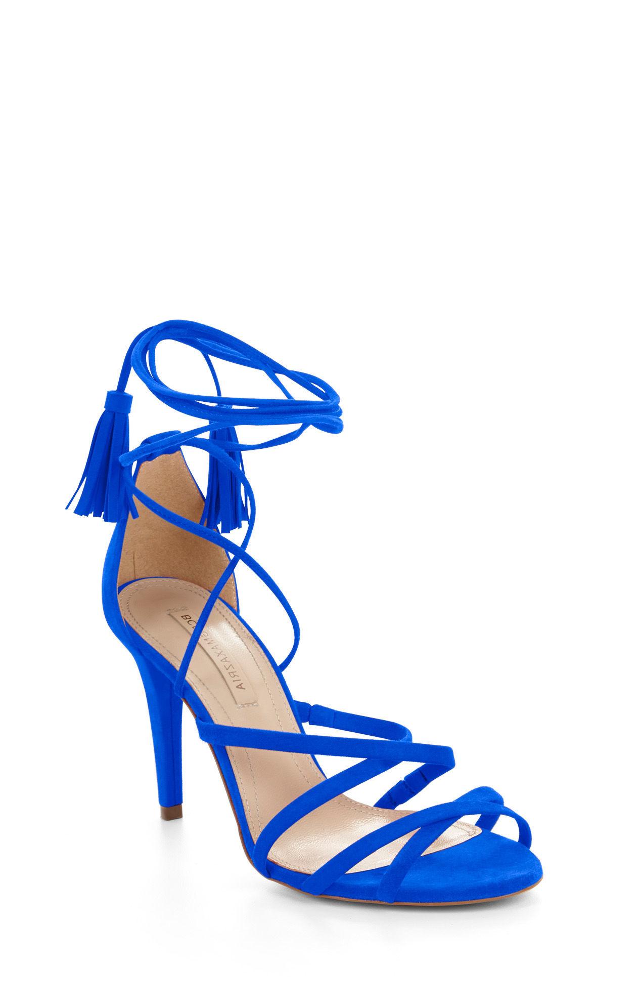 cb4e430aa8ac Bcbgmaxazria Lenita High-heel Suede Strappy Sandal in Blue - Lyst