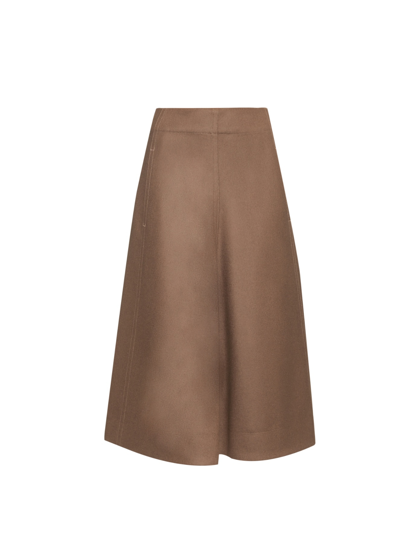 Lemaire High-waist A-line Wool Skirt in Brown | Lyst