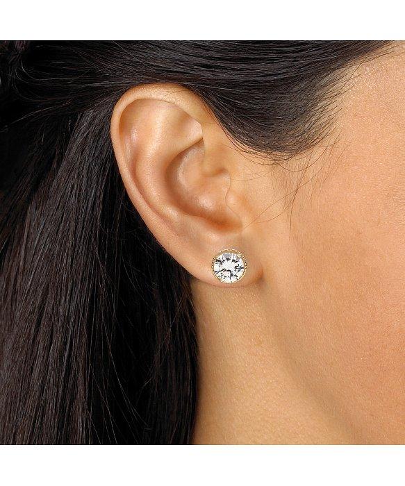 Lyst Palmbeach Jewelry 4 Tcw Round Martini Set Cubic Zirconia Stud