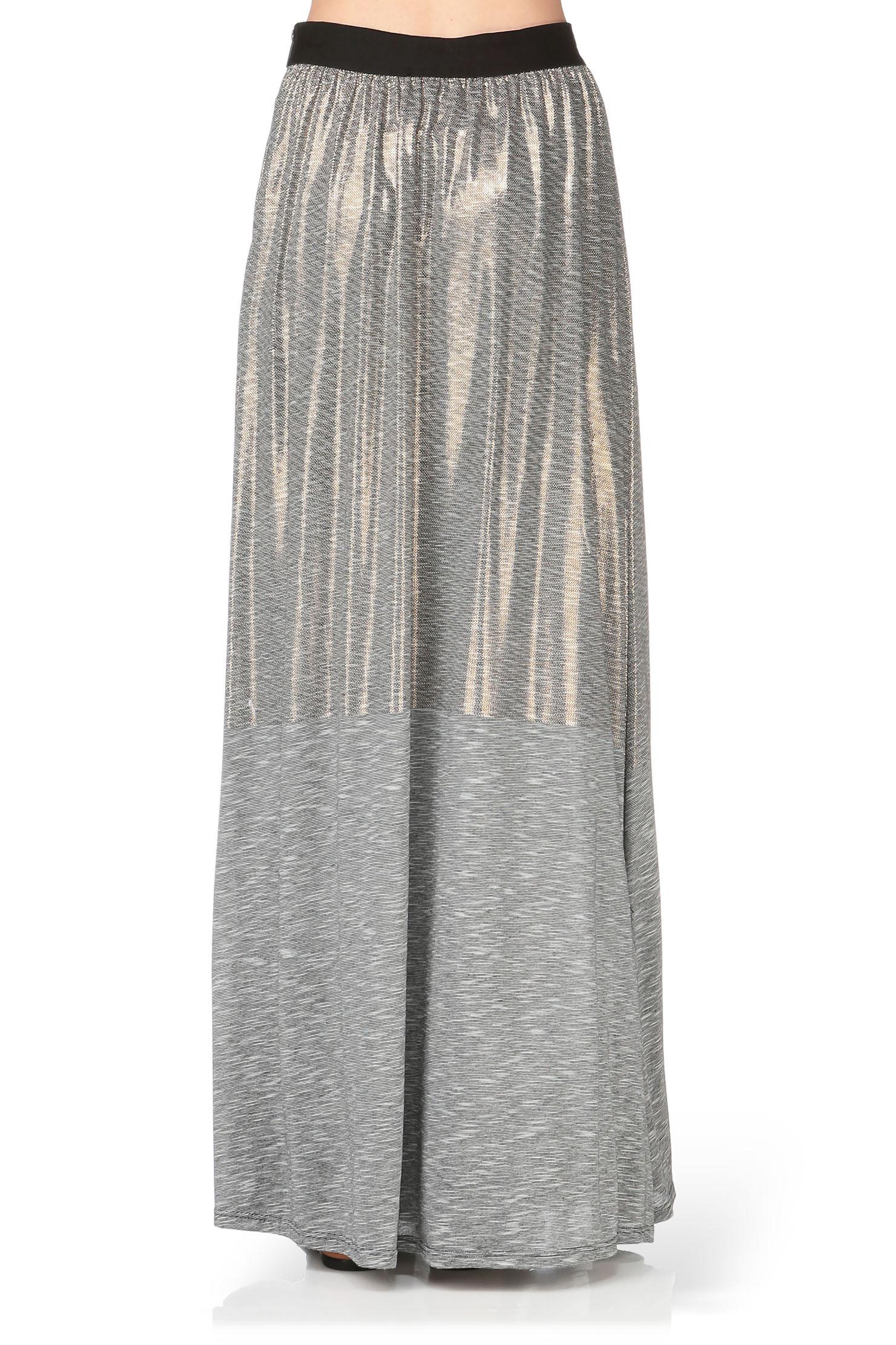 volcom midi skirt maxi skirt in gray lyst