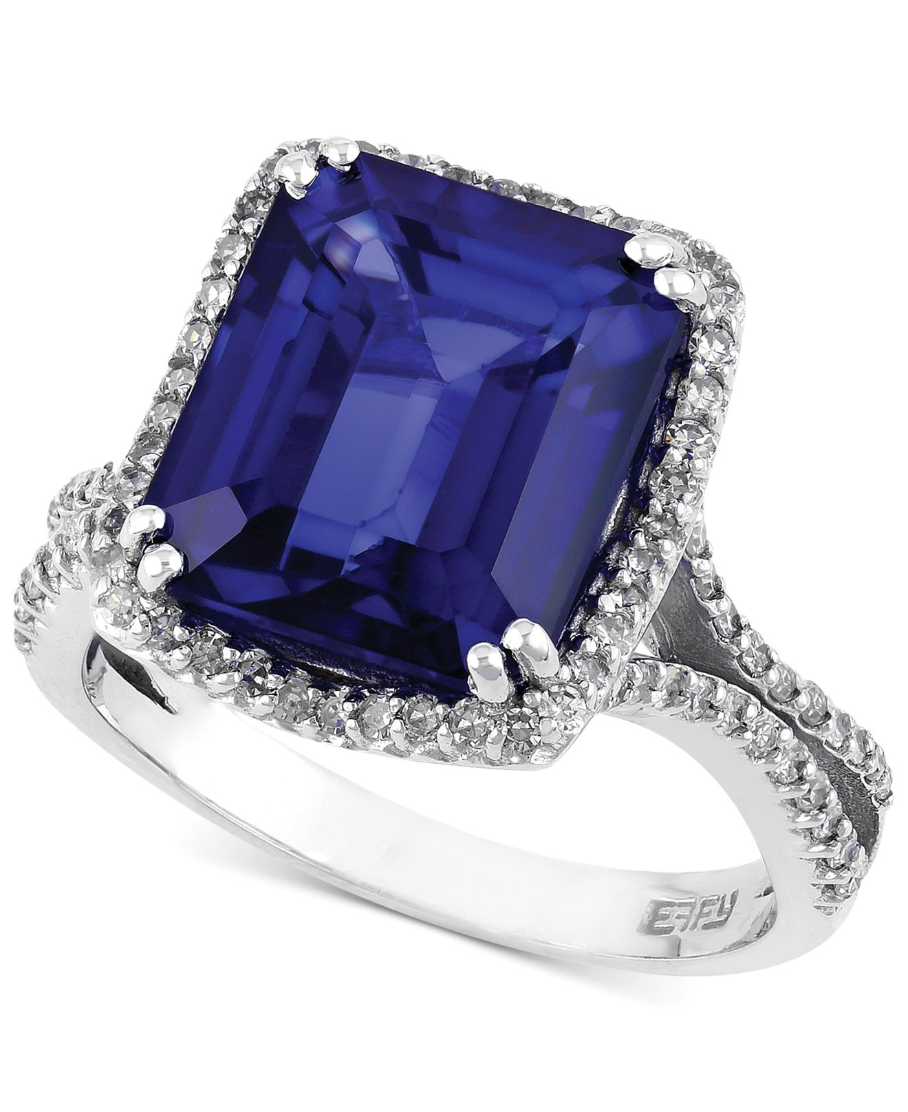 product royal sapphire diamond jewelers ring diffused