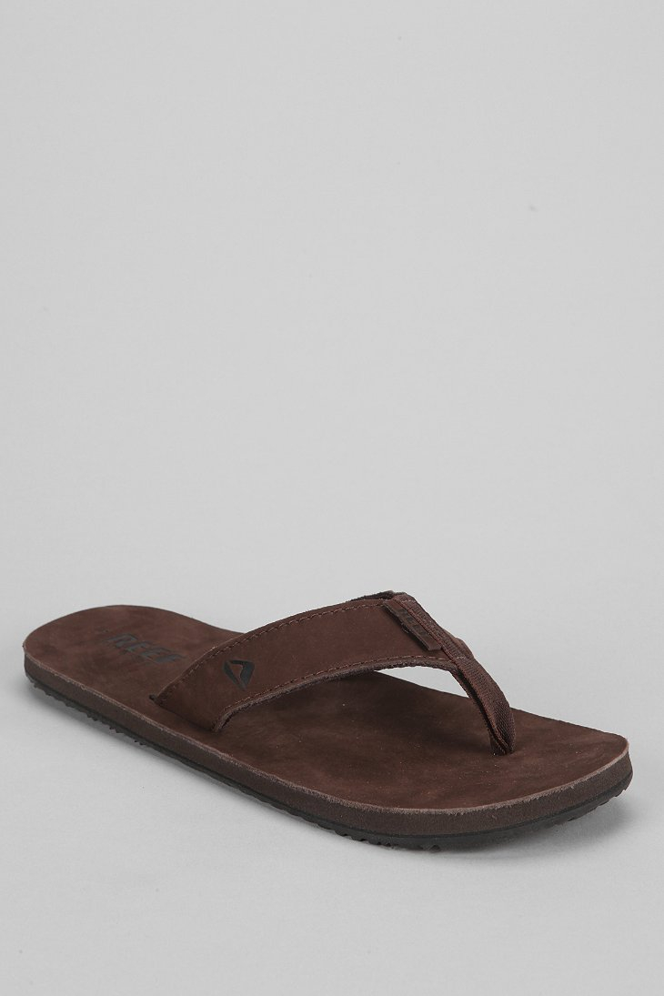 f4d518899fdc Lyst - Reef Leather Smoothy Thong Sandal in Brown for Men