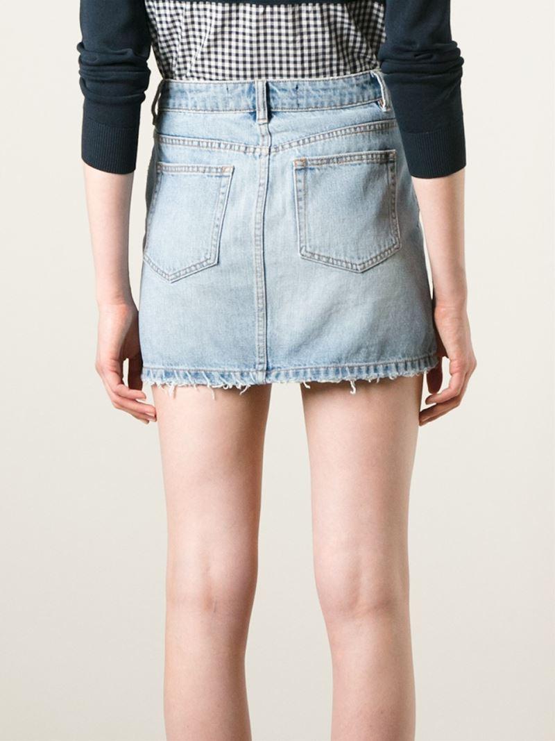 6ba1f753fc Lyst - Marc By Marc Jacobs Denim Mini Skirt in Blue