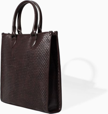 Shopper Bag Zara Zara Braided Shopper Bag
