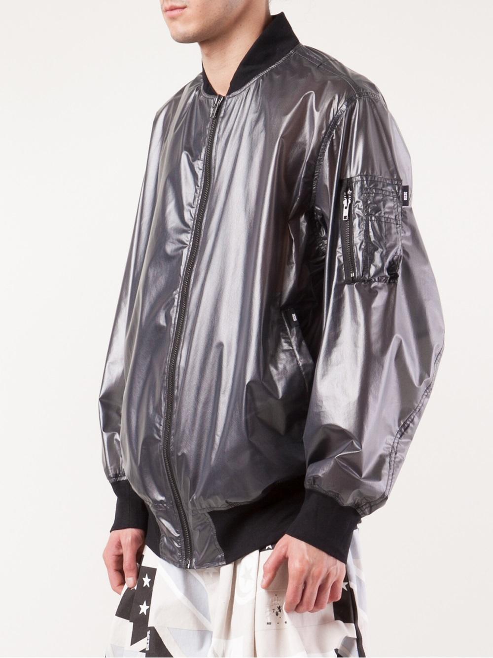 Ktz Transparent Bomber Jacket in Black for Men | Lyst