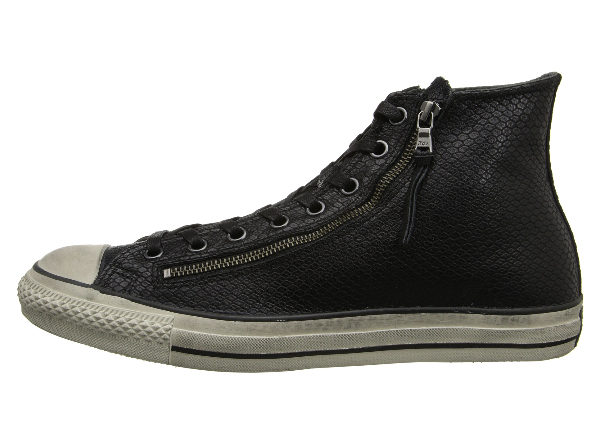 14fb01c1e681 ... new arrivals lyst converse chuck taylor all star leather double zip  black snake e92b6 29efe
