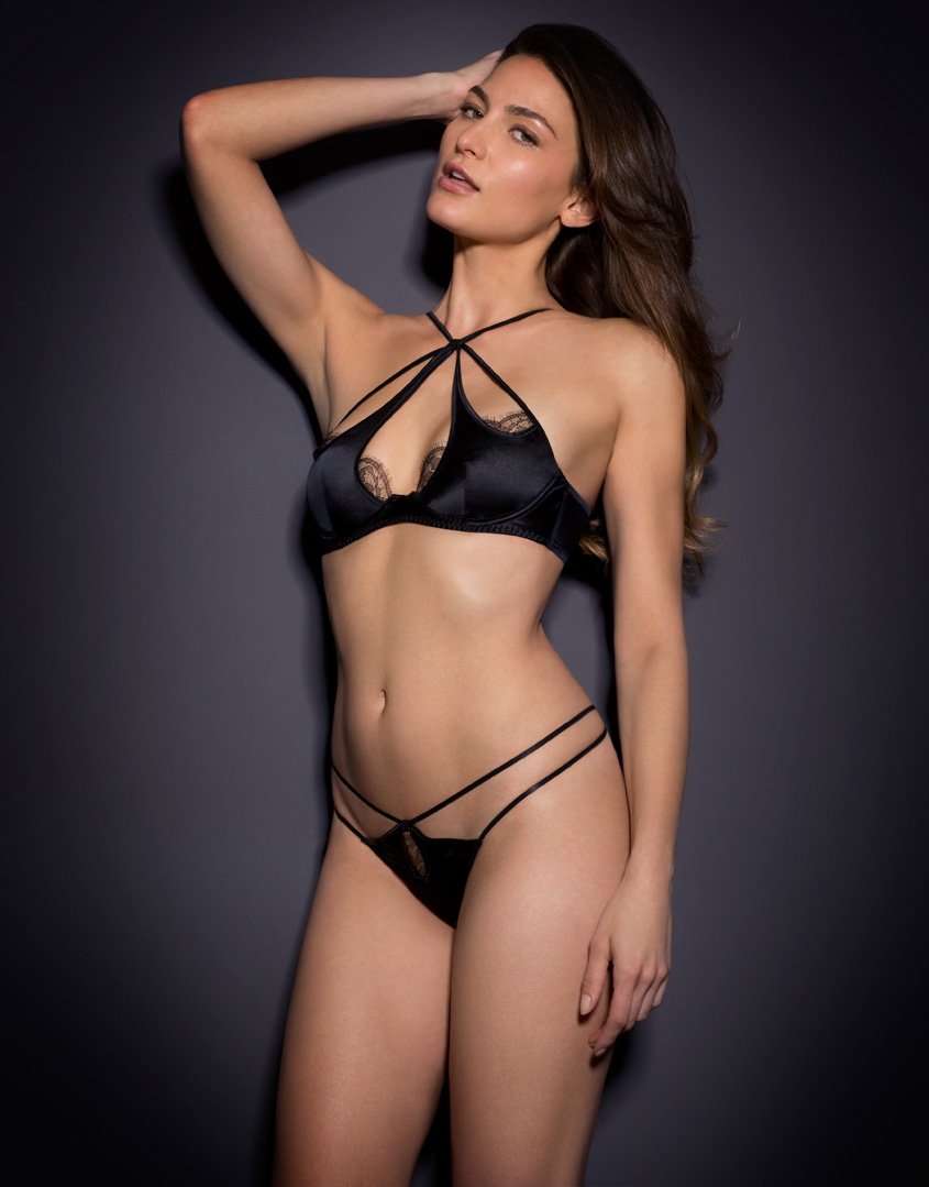 f05634c591 Lyst - Agent Provocateur Robyn Thong Black in Black