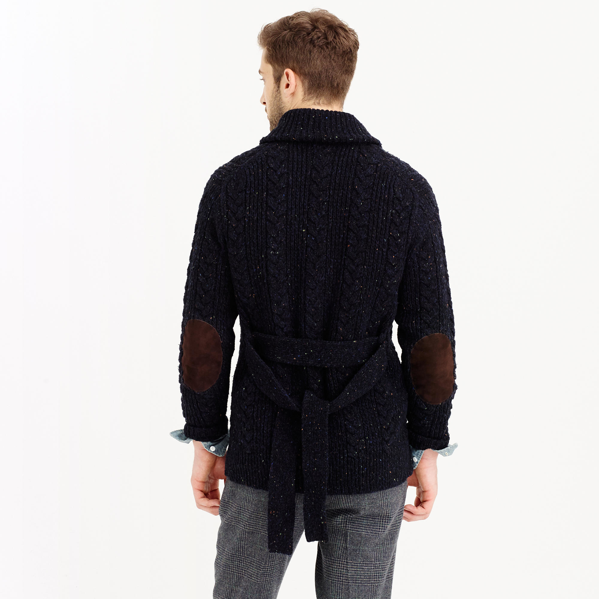 J.crew Donegal Wool Belted Shawl Cardigan Sweater in Blue for Men ...