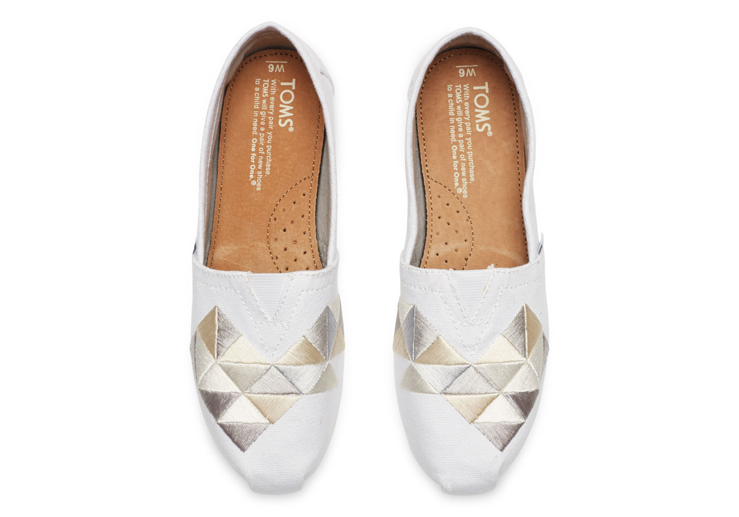 toms white canvas embroidery s classics in white lyst