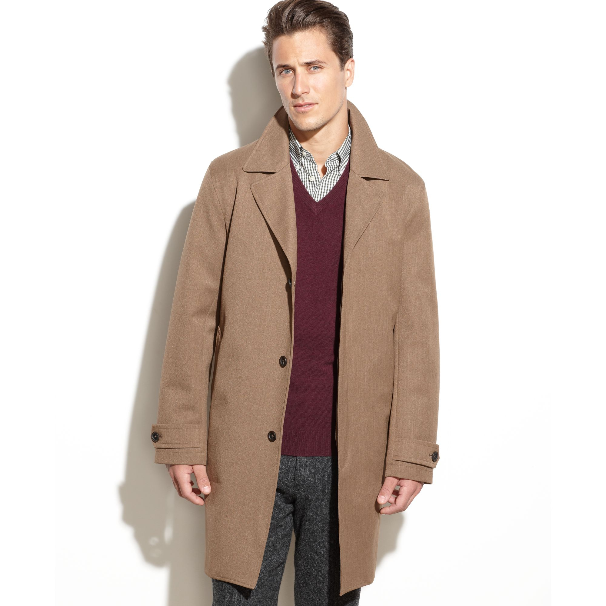 Michael kors All Weather Raincoat in Natural for Men | Lyst