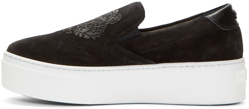 Black Perforated Suede West Coast Choppers Slip-On with Leather accents. The shoe has a soft inlay sole for extra comfort. Available from size Please see conversion chart to ensure correct fit.