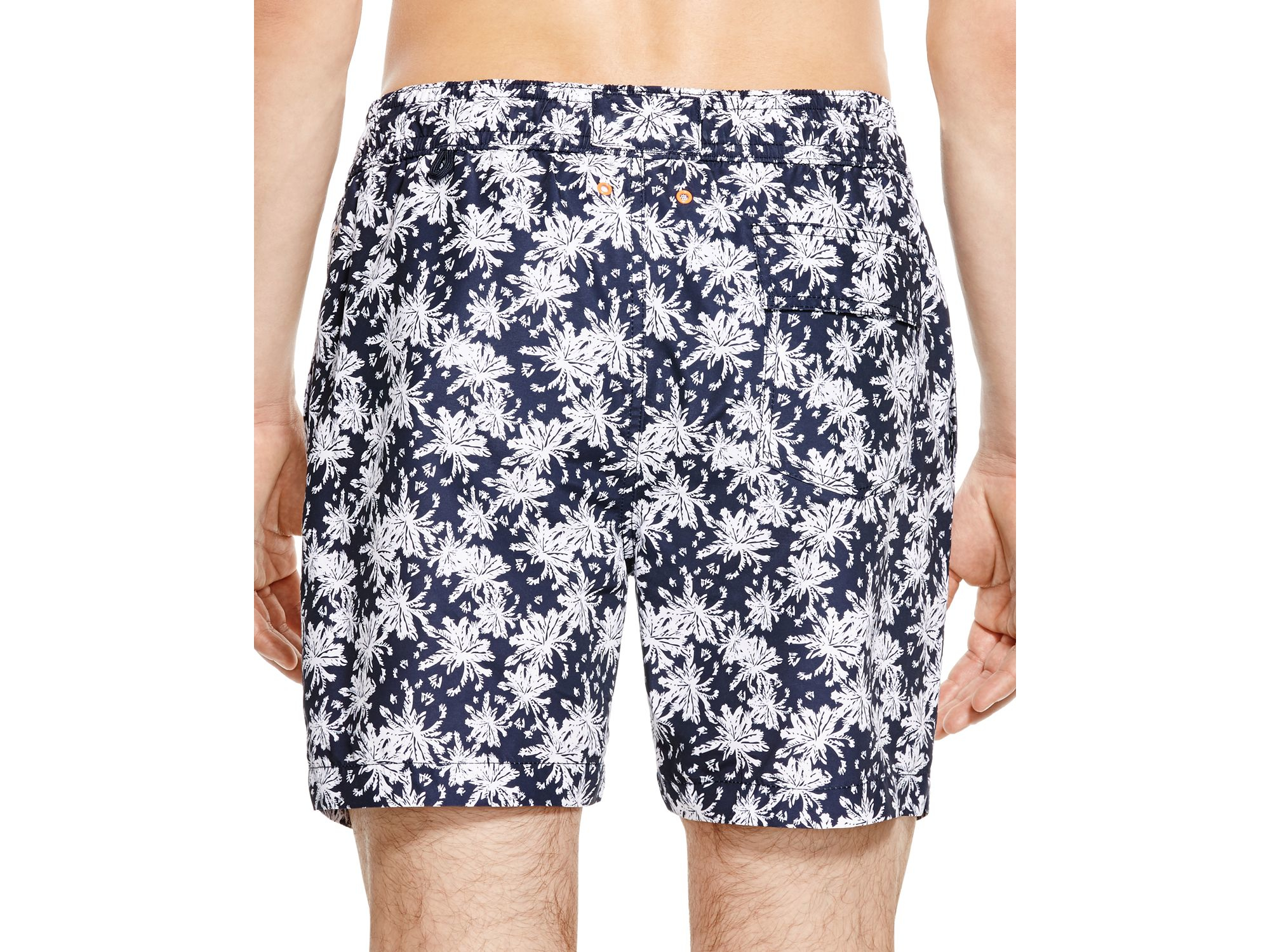 57aaa81647ecf Jack Spade - Blue Grannis Tropical Floral Print Swim Trunks for Men - Lyst
