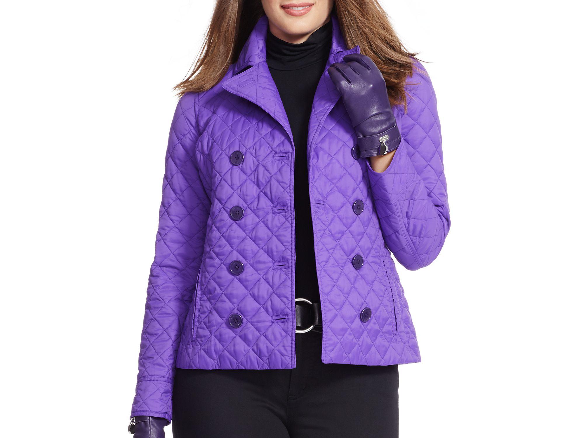 Pink pony Lauren Plus Quilted Jacket in Purple | Lyst