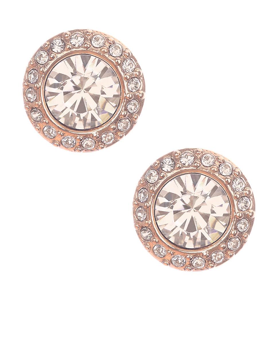 e138ec4ec Givenchy Rose Goldtone And Swarovski Crystal Stud Earrings in Pink ...