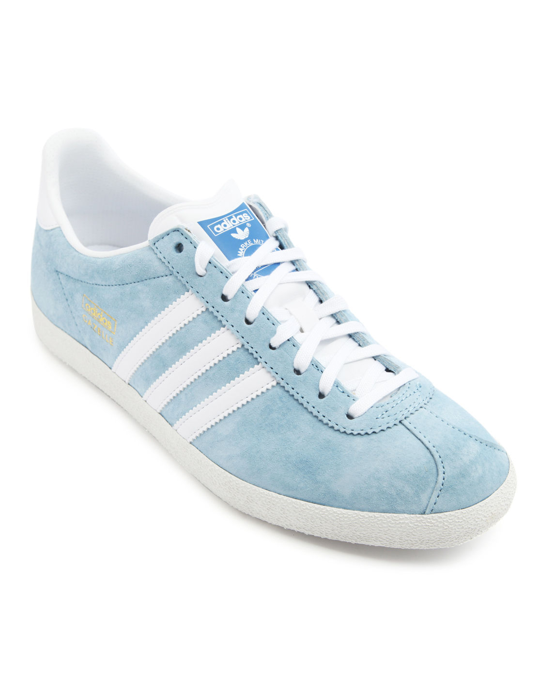 adidas gazelle skyblue suede sneakers in blue for men lyst. Black Bedroom Furniture Sets. Home Design Ideas
